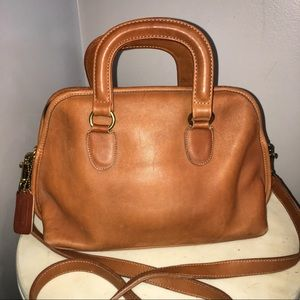 COACH CARAMEL LEATHER SATCHEL MESSENGER TOTE PURSE